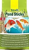 Tetra Pond Sticks 15 L - Alimento para peces de estanque, para peces sanos y agua clara, diferentes tamaños
