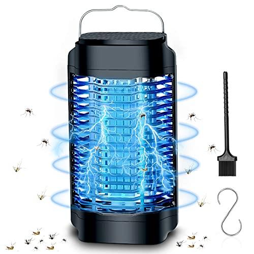 Oryidr Lampada Antizanzare Elettrica, Zanzare Elettrico UV di 365 Nanometri per 100 m², Luce ad Alta Tensione 4000V, per Casa Giardino Interno Esterno Cucina SoggiornoInsetti, Zanzare Mosca Falene