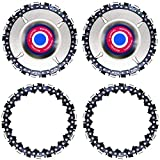 Wood Carving Disc,4 Inch Angle Grinder Chain Disc Double Saw Teeth Anti-kickback Wood carving Saw Blade for 100/115 Angle Grinder,22 Teeth, 5/8' Arbor (2 PACK)