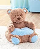 The Lakeside Collection Kids' Plush Animal Chairs - Blue Bear