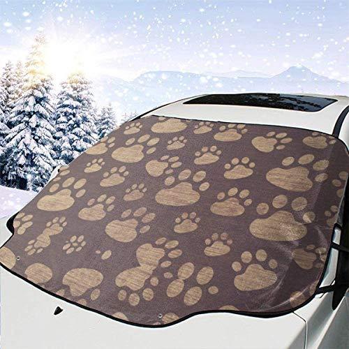 lovely baby-Z Animal Paw Bear Prints - Cubierta para parabrisas de coche, quitahielo para protección de invierno, ajuste universal para coches, camiones, furgonetas y SUV, grueso y grande