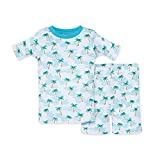Burt's Bees Baby Baby Boys' Pajamas, Tee and Pant 2-Piece Pj Set, 100% Organic Cotton, Palm Beach Short Sleeve, 18 Months