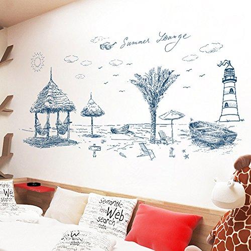HCCY Canapé Mur Mur Arts personnalité Salon Chambre à Coucher ameublement canapés Ainsi Que Le Papier Peint de l'eau Plage 160 * 73cm