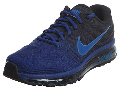 Nike Men's Air Max 2017 Low Top Lace Up Running Sneaker, Blue, Size 8.0