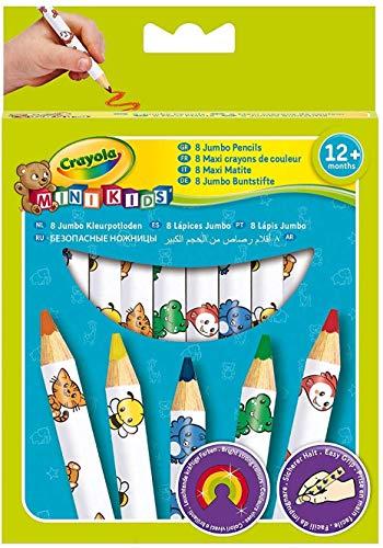 """Crayola - Mini Kids - 8 """"Maxi"""" crayons de couleur  - Coloriage pour enfant et tout petit - 256248.012"""