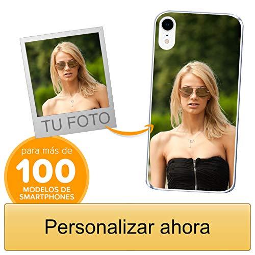 Funda Personalizada para Apple iPhone XR con tu Foto, Imagen o Escritura - Estuche Suave de Gel TPU Transparente - Impresión