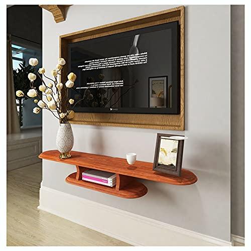 WFENG Mueble de TV Flotante/Mesa De TV Estante,Tabla Gruesa-Fuerte Capacidad de Carga/Resistente al Agua y al Moho/Red apple color / 120×22×16cm