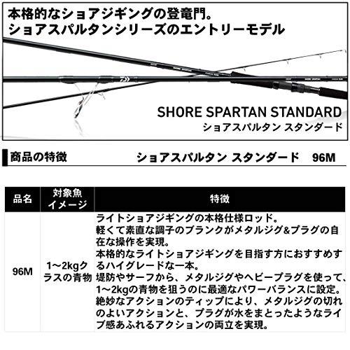 ダイワ(DAIWA)ショアジギングロッドショアスパルタンスタンダード96M釣り竿