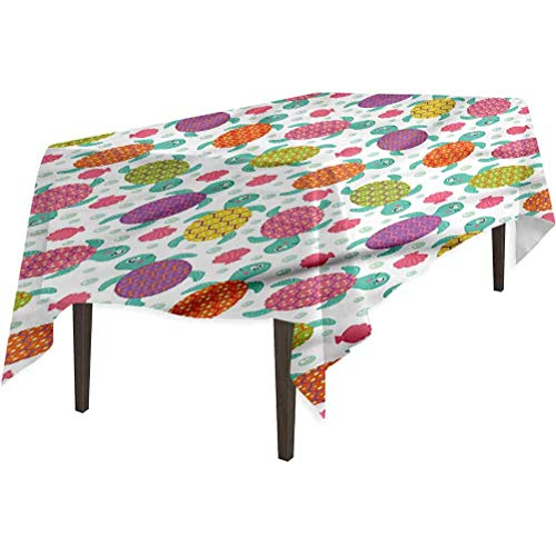 Aishare Store Table Cloth, Aquarium Shells Oysters and Pearl, Great for Holiday Dinner, 54' x 108'