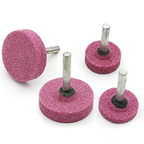 10x Meules sur tige, 25 * 6 * 6mm meule à rectifier, pour outils rotatoires de Dremel