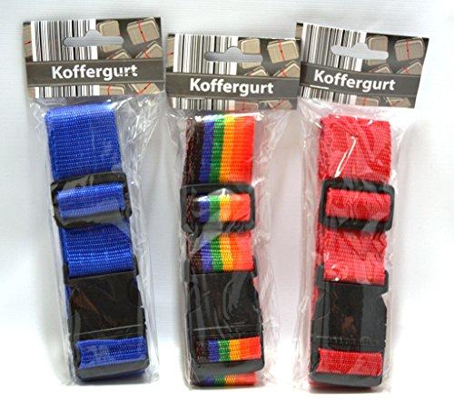 Koffergurt 3er Set farbig sortiert LIEFERUMFANG 3 Gurte