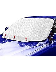 MOTAIN カーフロントカバー 車用 凍結防止 5重構造 撥水加工 内蔵磁石3枚 雪対策 防水 日除け 遮光断熱 磁石付き 四季対応 汎用M(183*116cm)