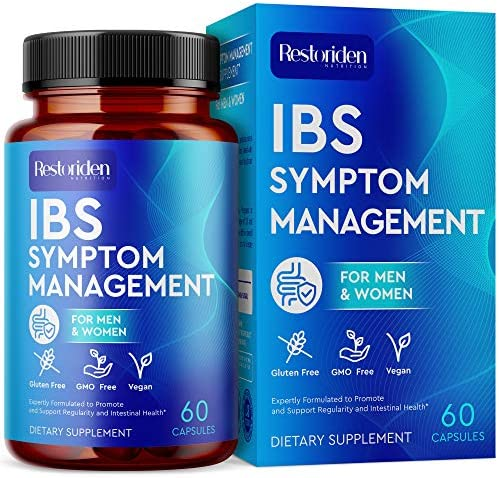 Restoriden IBS Symptom Management Supplement Natural Stomach Cleansing Herbal Blend Vitamins product image