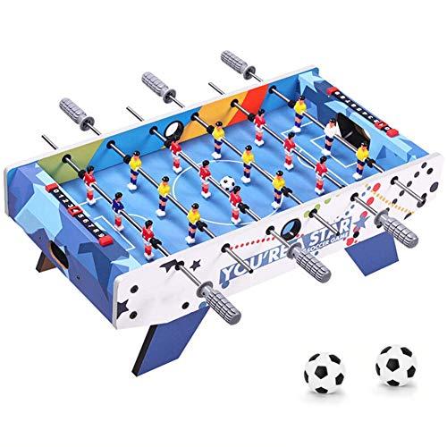 FSJD Mesa de futbolín, Juego Completo de Juguete de fútbol de Mesa de Madera, Mesa de Juego fácil de Instalar para niños Adultos, Juego de Deportes de Rompecabezas Familiar