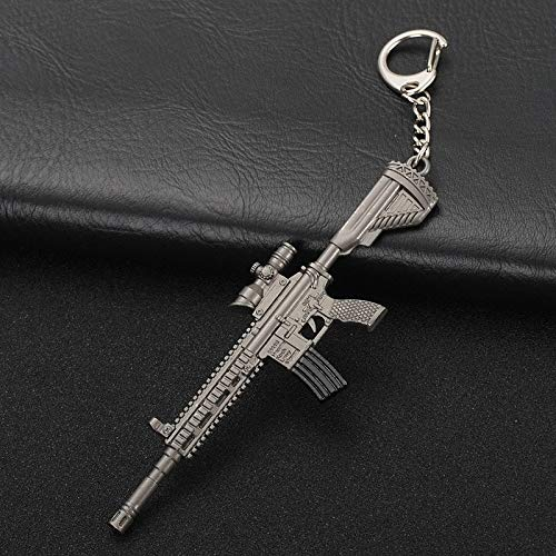 RWLOVE Creative Bullet Key Chain Retro Gold Premium Alloy Aircraft Knife Bag Pendant Car Keychain Men Key Ring Best Gifts M416 Automatic Rifle
