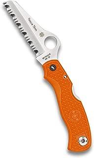 Spyderco Rescue 79mm Lightweight Folding Knife - Orange FRN Handle with SpyderEdge, Saber Grind, VG-10 Steel Blade and Back Lock - C45SOR