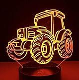3D Night Light 3D Led Night Light Lampe Chat Animal 7 Couleur Lampe De Poche Lampe De Bureau Cadeau...