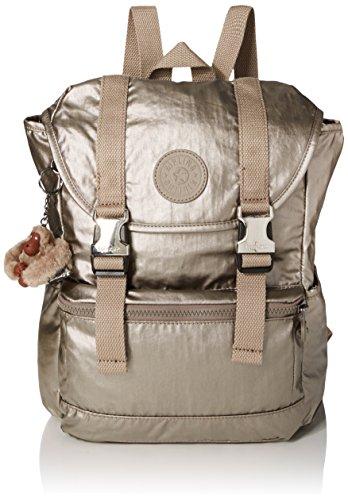 Kipling Damen Experience S Rucksack Gold (Metallic Pewter)