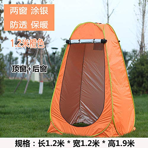 LIKEJJ Changing Room Tent,Automatic pop-up tent bath thickening warm changing room cover portable mobile toilet beach dressing sunscreen tent-1.2m 2 window