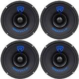 (4) Rockville RM68SP CEA Compliant 6.5 480W Mid-range Car Speakers 8 Ohm