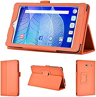 wisers 2016 ALCATEL ONETOUCH POP 7 LTE 7-inch Tablet case/Cover, Orange