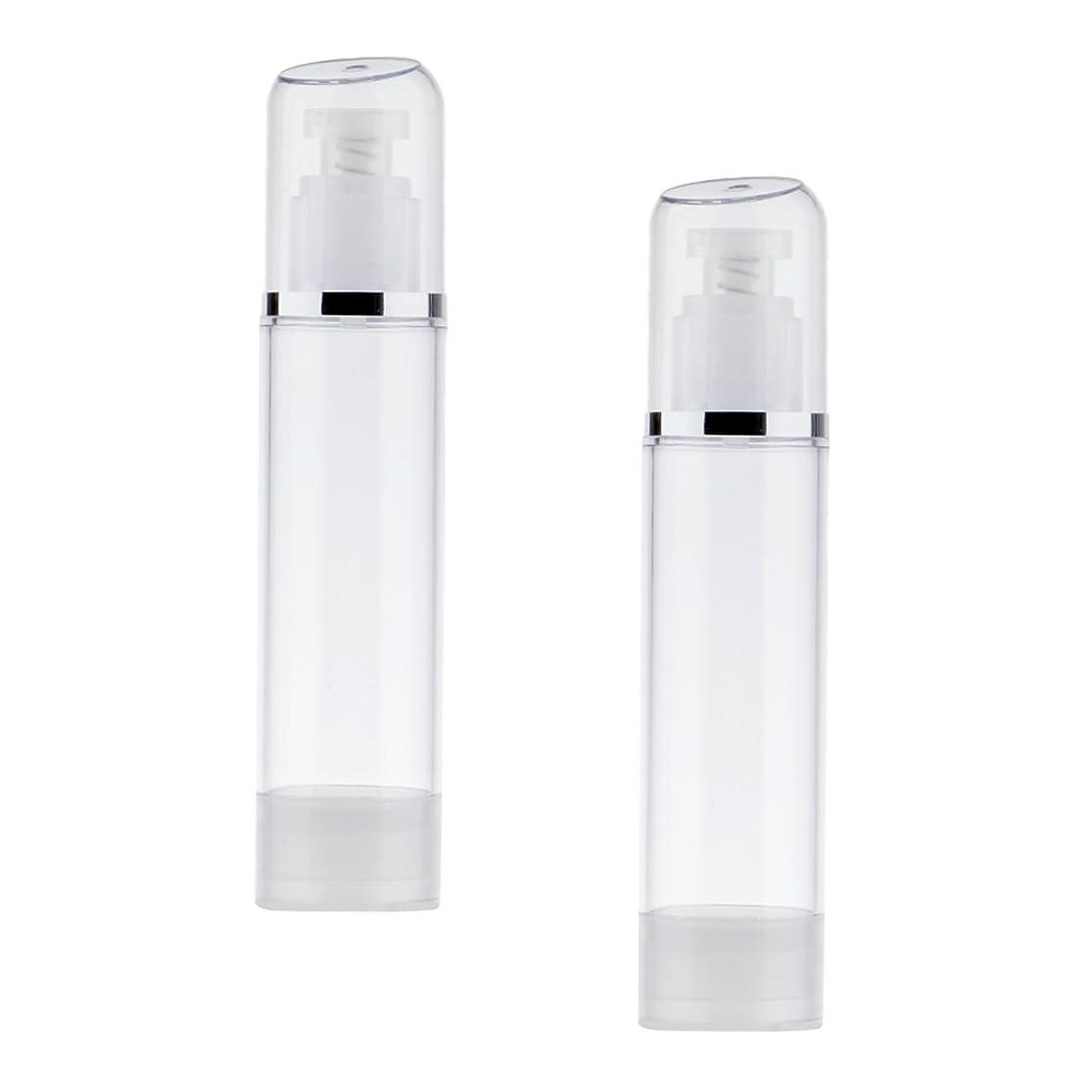 リスト方法ウガンダKesoto 2個 空ボトル ポンプボトル エアレス ポンプディスペンサー ボトル プラスチック 100ml クリア