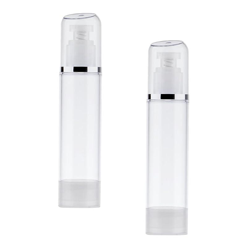 電話をかける天国エキサイティングKesoto 2個 空ボトル ポンプボトル エアレス ポンプディスペンサー ボトル プラスチック 100ml クリア