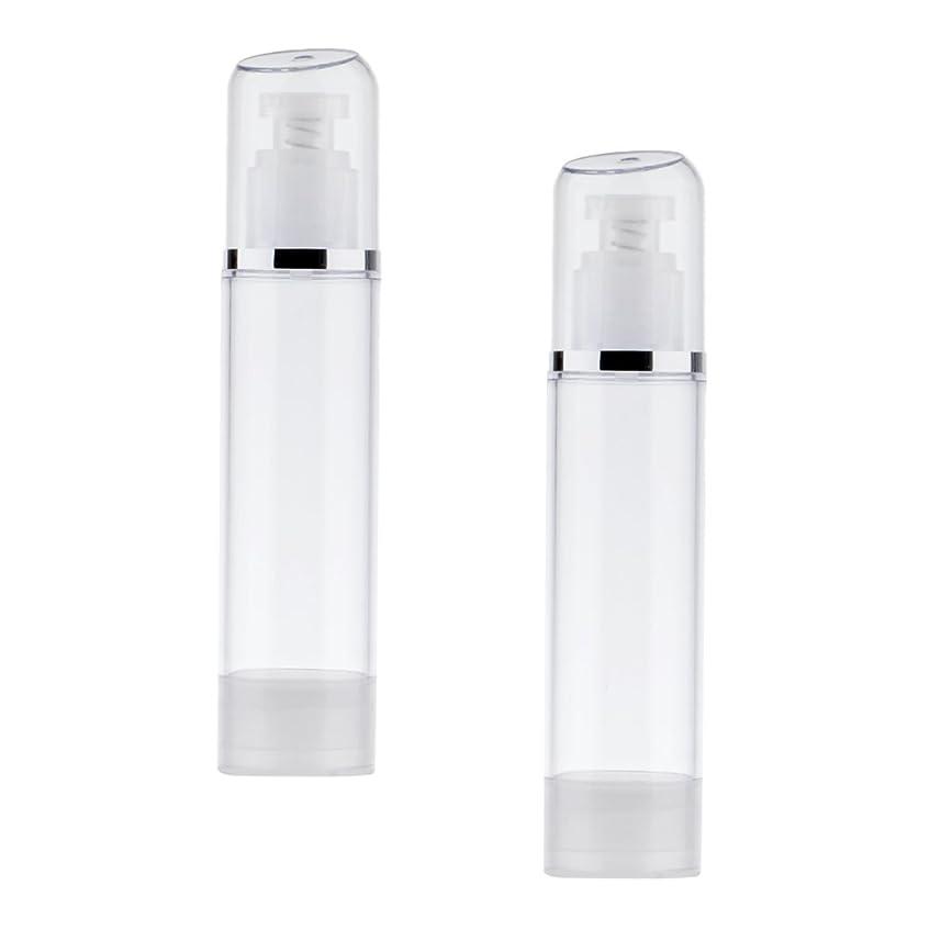 ファントム起きている適合しましたKesoto 2個 空ボトル ポンプボトル エアレス ポンプディスペンサー ボトル プラスチック 100ml クリア