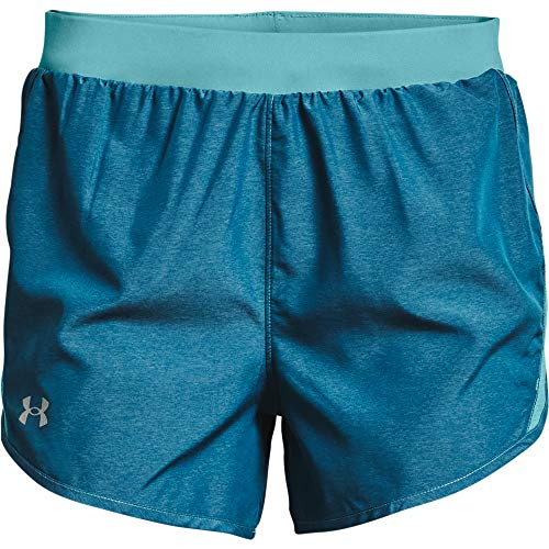 Under Armour Womens Fly By 2.0 Running Shorts , Cosmos Full Heather (476)/Reflective , Medium