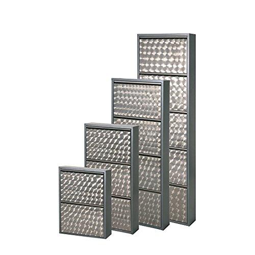 simple..*M* 4001070101020 Schuhklappschrank, 50 x 15 x 70 cm, metall, grau