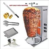 COMAYSTRA SHAWARMA Grill Doner Kebab Burner GYRO Tacos AL Pastor Holder Skewer Maker Machine Propane...
