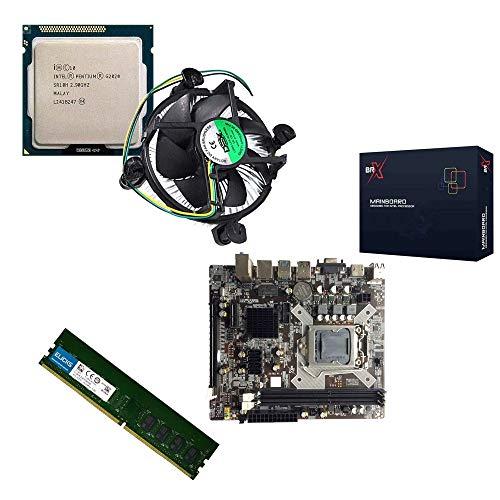 Kit Placa Mãe Intel H61 1155 + Pentium G2020 2,9Ghz + 4GB DDR3 1600MHZ