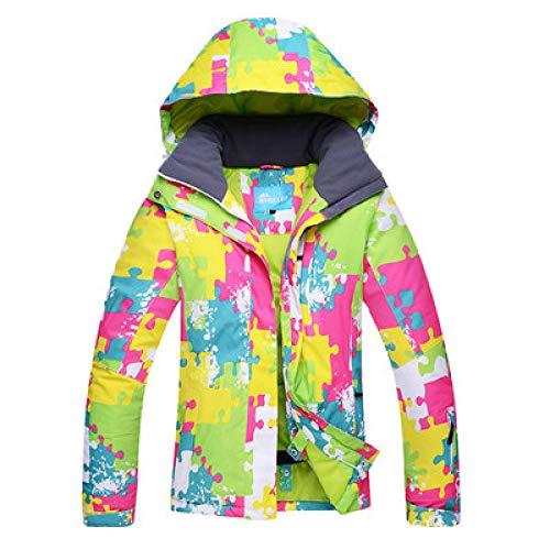 YRFDM Combinaison de Ski,Couples Veste de Ski Femme Veste de Ski Homme Chaude et imperméable Coupe-Vent Manteau de Ski et de Snowboard Sportswear d'hiver, Rose, S