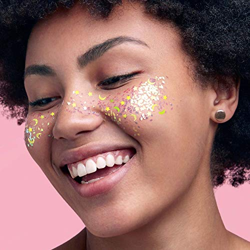 CAI BEAUTY NYC Silver Glitter | Easy to Apply, Easy to Remove Chunky Glitter for Body, Face and Hair | Bag Pouch | Holographic Cosmetic Grade Glamour