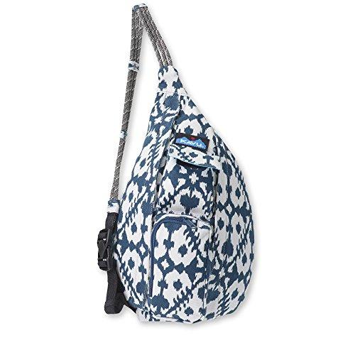 KAVU Mini Rope Bag Cotton Crossbody Sling  - Blue Blot