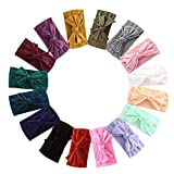 16PCS Baby Nylon Headbands Hairbands Hair Bow Elastics for Baby Girls Newborn Infant Toddlers Kids (Pb-16)