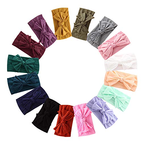 Product Image of the 16PCS Baby Nylon Headbands Hairbands Hair Bow Elastics for Baby Girls Newborn...
