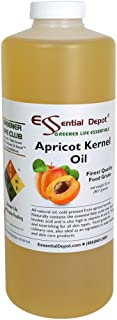 Apricot Kernel Oil - 1 Quart - 32 oz - Food Grade - safety sealed HDPE container with resealable cap