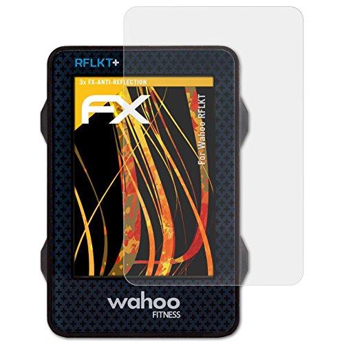 atFoliX Panzerfolie kompatibel mit Wahoo RFLKT Schutzfolie, entspiegelnde und stoßdämpfende FX Folie (3X)