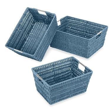 Whitmor Rattique Storage Baskets - Berry Blue - (3 Piece Set)