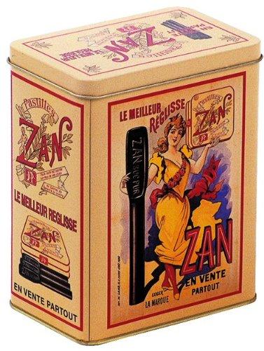 BOITE METAL DECORATIVE 12X8X15cm PUB RETRO BONBON REGLISSE ZAN