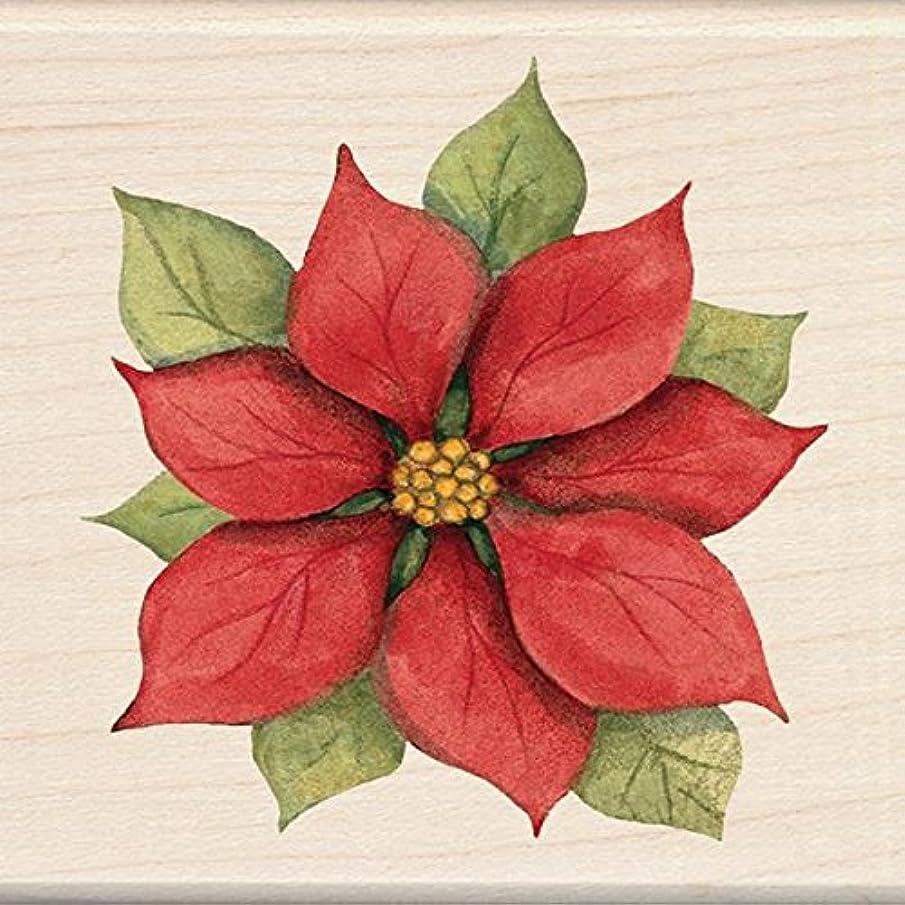 Inkadinkado Wood Stamp, Poinsettia