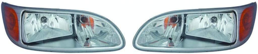 For Max 83% OFF Peterbilt 325 2021 spring and summer new Headlight Assembly Pair Driver 2008-2012 P and