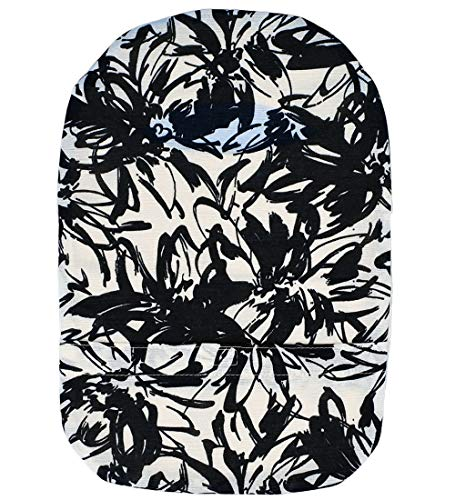 Stretchy Deodorizing Ostomy Pouch Cover D (F, Flower Brushes)