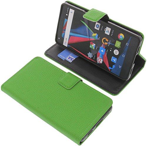 foto-kontor Tasche für Archos Diamond 2 Plus Book Style grün Schutz Hülle Buch