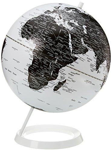Invotis IN1469 Globe Terrestre Noir/Blanc