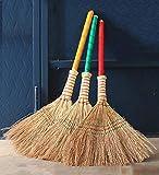 YUDEYU 3 Piezas Paja Escoba Dureza Moderada Hecho A Mano Limpieza De Saneamiento (Color : Natural, Size : 80x45cm)