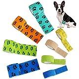 8 Piezas Cinta Adhesiva para Heridas para Perros Vendaje Autoadhesivo para Mascotas Venda De Fijación Flexible y Elástica