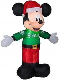 Christmas Inflatable Mickey Mouse Santa