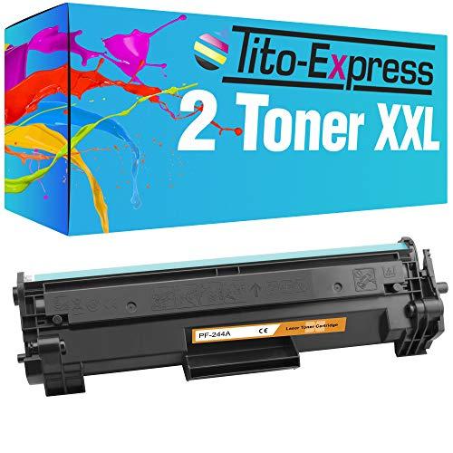 Tito-Express ProSerie 2 Tóner XXL compatible con HP CF244A cada uno con 1000 páginas Laserjet Pro M-15a M-15w M-17a M-17w M-28a M-28w